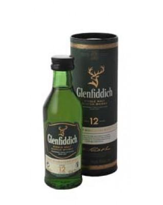 Glenfiddich 12 Year Old Single Malt Scotch Whisky - Miniature