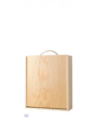 3 Bottle Wooden Box - Sliding Lid
