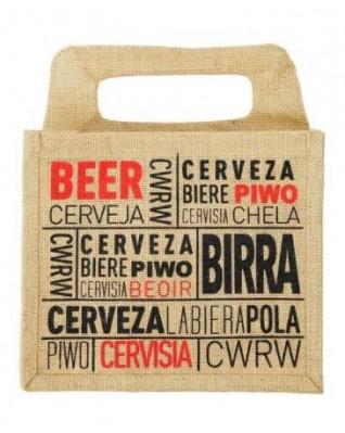 6 Bottle Beer Jute Carrier